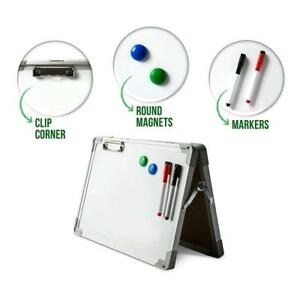 Ibex Dryerase Desktop Whiteboard Easel Magnetic Tabletop Double Sided Non