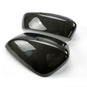 Outside Carbon Fiber Side Rearview Mirror Cover For Mazda 3 Axela 2014 16