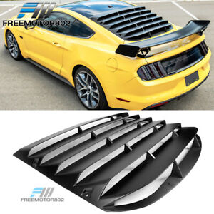 Fit 15 20 Mustang Coupe Rear Window Scoop Louver Rain Sun Guard Shade Cover Abs