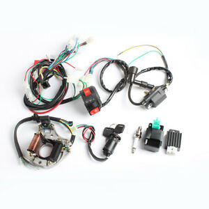 NEW CDI WIRE HARNESS STATOR ASSEMBLY WIRING SET ATV ELECTRIC QUAD 50 70 90 110CC