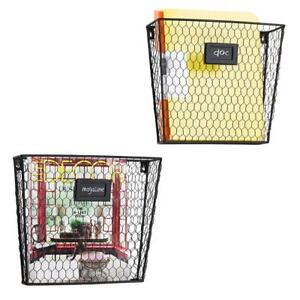 Mygift Rustic Chicken Wire Wall mounted Magazine File Folder Baskets