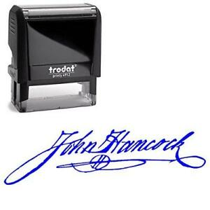 Custom Signature Stamp Upload Your Own Self inking Stamp blue