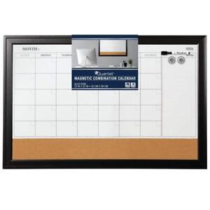 Quartet Magnetic Combination Calendar Board Dry Erase Cork 23 X 35