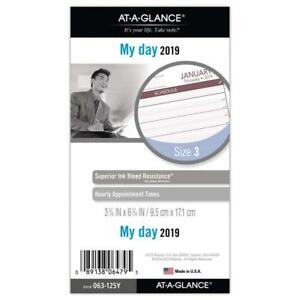 At a glance Day Runner Daily Planner Refill January 2019 December 2019
