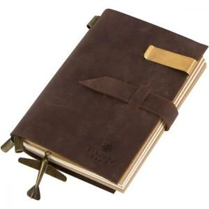 Genuine Leather Travel Journal And Handmade Diary With Refillable Notebooks