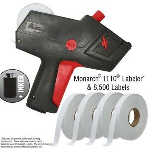 Monarch 1110 Price Gun With Labels Starter Kit Includes Gun 8 500 White