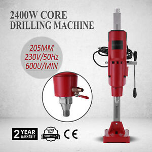 8 Diamond Core Drill Drilling Machine 3980w Sewer Pipes Rig Motor 600u min