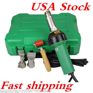 1600w 110v Easy Grip Plastic Hot Air Welding Gun With 2 Nozzeles Usa Stock