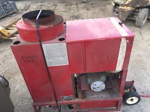 Sioux Oil Fuel Fired Hot Water Steam Cleaner High Pressure Washer Machine