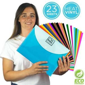 Htv Heat Transfer Vinyl All in one Bundle 23 12 X 10inch Multicolor Sheets
