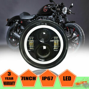 7 Inch Led Projector Ultra Classic Motorcycle Headlight For Harley Street Glide