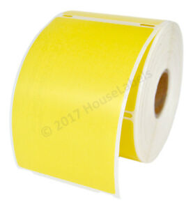 4 Rolls 300 Labels Removable Yellow Shipping Labels For Dymo Labelwriters 30256