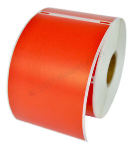 4 Rolls 300 Labels Removable Red Shipping Labels For Dymo Labelwriters 30256