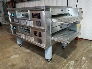 Middleby Marshall Ps870g Wow Doublestack Ng Pizza Conveyor Oven video Demo