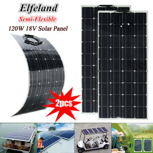 240w 2x 120w 18v Flexible Solar Panel Battery Charger For Motorhome Boats Roof