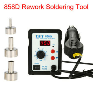 858d 2 in 1 Hot Air Rework Station Soldering Iron Hot Air Gun Welder Kit Hg