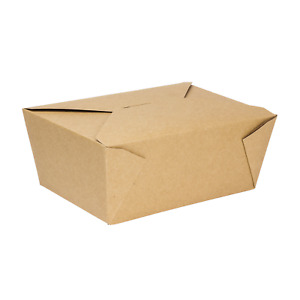 Karat 110oz Fold to go Box 4 Kraft 160 Ct Fp ftg110k