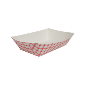 Karat Food Tray Shepherd s Check red 5 0 Lb Fp ft500g