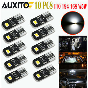 10 Pc White 2825 194 168 W5w T10 Interior Map Dome Marker Trunk Light Led Bulb E