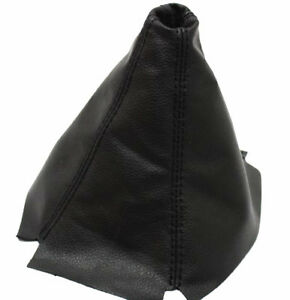 Black Manual Shift Boot Synthetic Leather For 94 01 Acura Integra