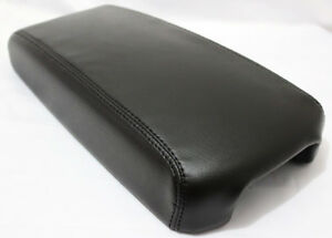 Black Center Console Lid Armrest Cover Real Leather For 13 18 Nissan Altima