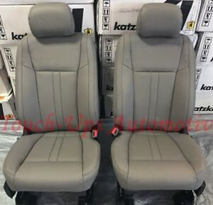 2015 2018 Ford F 150 Xlt Supercrew Katzkin Leather Seat Covers Replacement Gray