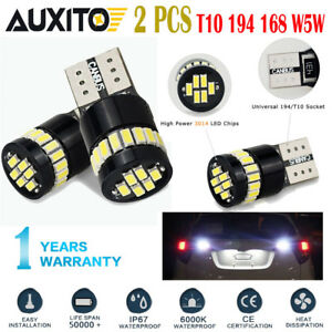 Canbus 194 168 2825 W5w T10 6000k Led Bulb License Plate Light Lamp Error Free A