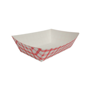 Karat Food Tray Shepherd s Check red 2 0 Lb Fp ft200g