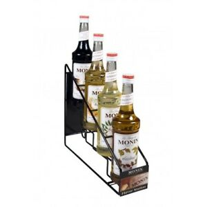 Monin Syrup Wire Rack 4 Bottles H wirerack4