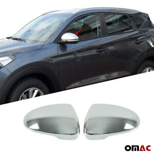 Fits Hyundai Tucson 2016 2020 Stainless Steel Chrome Side Mirror Cover Cap 2 Pcs