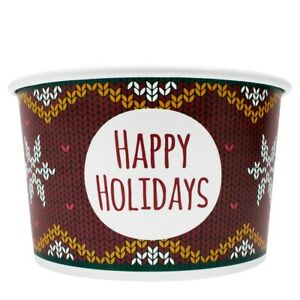 Karat 20oz Food Containers Holiday Sweater 127mm 600 Ct C kdp20 holiday