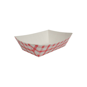 Karat Food Tray Shepherd s Check red 0 5 Lb Fp ft050g