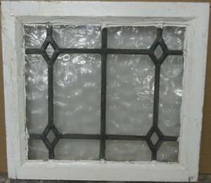 Old English Leaded Stained Glass Window Simple Gorgeous Diamonds 21 X 19 25