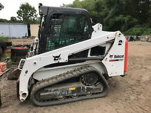 2015 Bobcat T450 Track Skid Steer Loader Cab Heat Ac Joystick 2 Speed A81