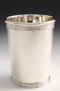 Sterling Silver Mint Julep Cup With Ribbed Design By Empire New Closeout