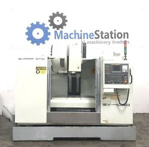Sharp Sv 4020 Vertical Machining Center 10000 Rpm 4th Axis cnc Mill Vmc Haas Vf