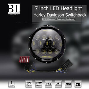 7 75w Led Motorcycle Headlight Projector For Harley Heritage Softail Flstc
