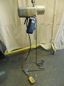 Industrial Coffing 1 000 Lb 1 2 Ton Electric Chain Hoist