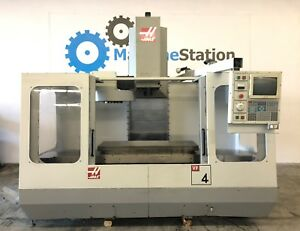 Haas Vf 4 Vertical Machining Center 4th Axis Gear Head 20hp Vf4 Cnc Mill 3