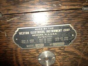 Vintage Weston Electric Insteument Corp Model 45