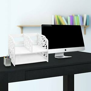 Rebrilliant 3 Compartment Desk Organizer White