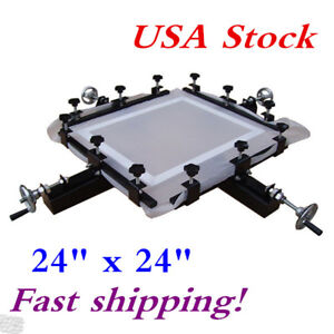 Usa Stock 24 X 24 Manual Screen Stretching Machine Screen Printing Stretcher