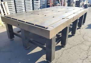 144 X 72 X 6 5 Thick Steel Welding 6 T slot Table Cast Iron Fixture Plate