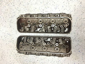 1966 Big Block Chevy 396 427 Oval Port Cylinder Heads 3872702 702 A 14 6 A 15 6