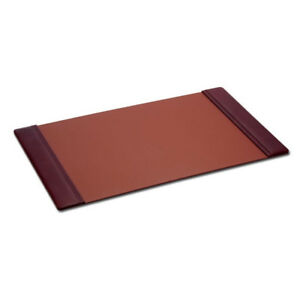 Mocha Leather Side Rail Desk Pad 38 x24