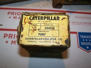Caterpillar Tractor Injector Pump 2a4424 New Old Stock In Orig Cosmoline Box