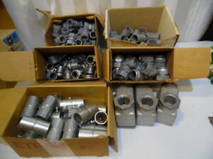 Etp Bridgeport Mixed Lot Of 5 Boxes 140 Piece Electrical Conduit Connectors Usa