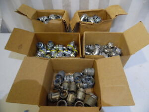 Red Dot Greenfield Mixed Lot 5 Boxes 124 Piece Electrical Conduit Connectors Usa