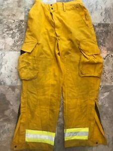 Barrier Wear Firefighter Brush Wildland Pants Yellow Reflector Large X 30 L 30