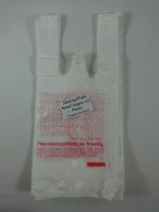 7 X 5 X 15 Thank You T shirt Bags Plastic Retail W Handles Variety Qty